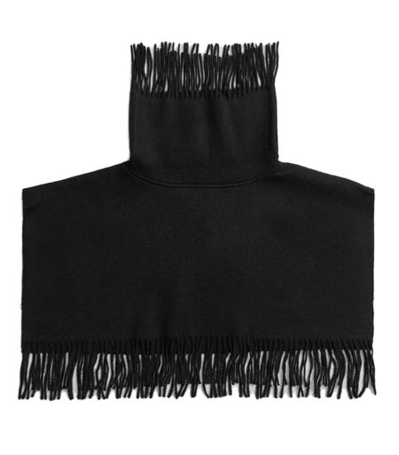 By Malene Birger Turtla Wool Fringe Bib sweater - black
