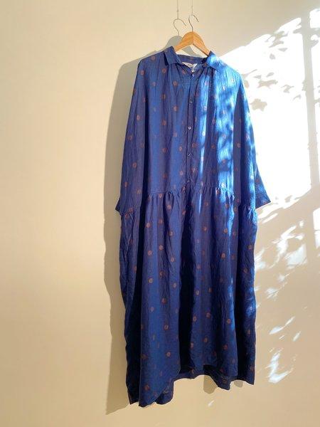 ICHI ANTIQUITES Organic Linen Dot Dress