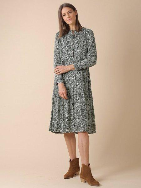 Indi & Cold Abbie Printed Dress - Khaki