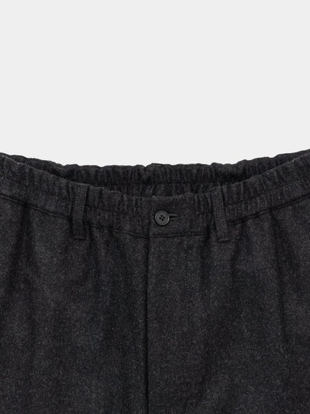 Still By Hand Washed Melton Pants - Charcoal