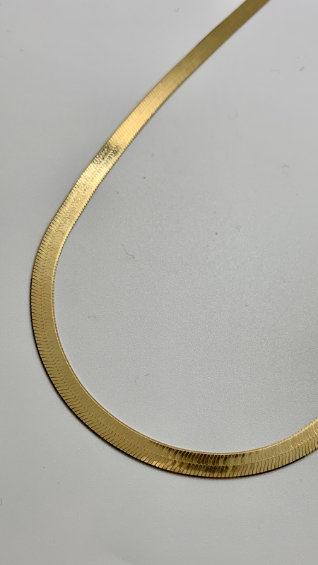 Enti Ana Thick Herringbone necklace - 14K Gold Vermeil
