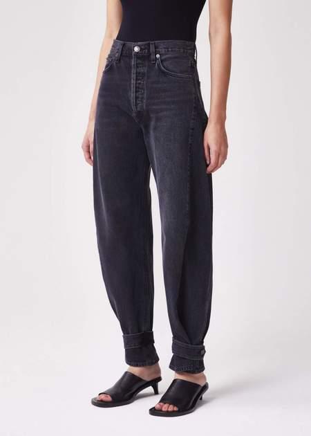 AGOLDE Cleo Cinched Cuff Wide Leg Jean