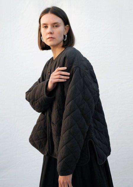 Micaela Greg Cross Quilt Jacket - Charcoal