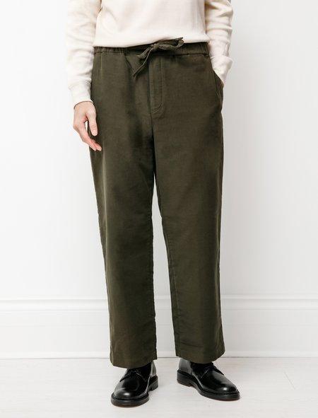 Niuhans Premium Suede Comfort Pants - Olive