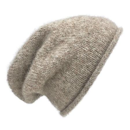 unisex Megan Huntz Essential Knit Alpaca Beanie - Beige