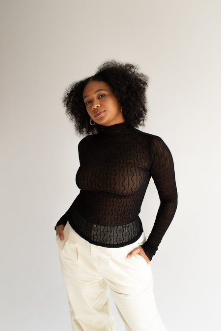 Find Me Now Ross Mesh Top - Black
