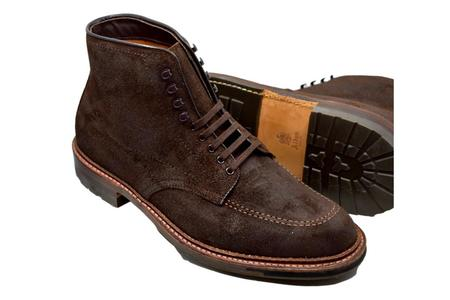 Alden 4015HC Reverse Chamois with Commando Sole Indy Boot - Brown