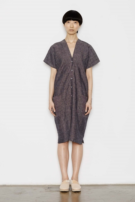 Study NY Kimono Dress in Stripe Linen