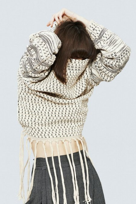 Study NY Weaving Hand Sweatshirt in Natural