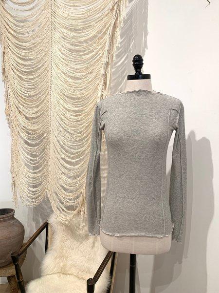 Baserange Omato Cotton Rib Longsleeve - Grey