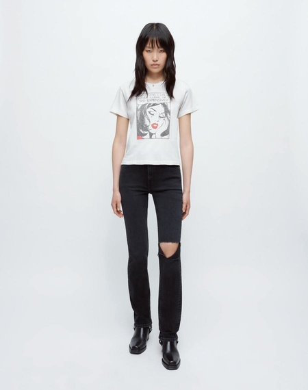 RE/DONE EVERYTHING I LIKE CLASSIC TEE - white