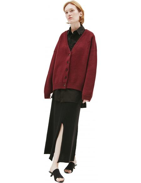 Maison Margiela Wool vintage effect cardigan - Burgundy