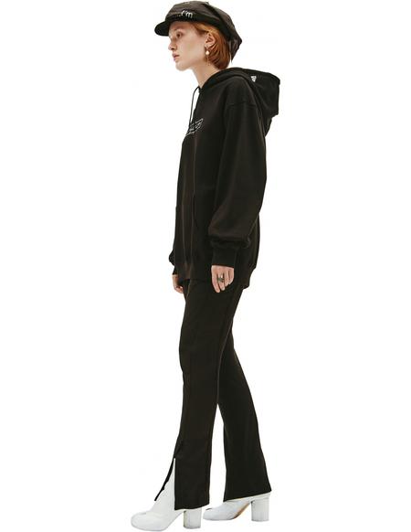 Yohji Yamamoto Back hoodie - Black