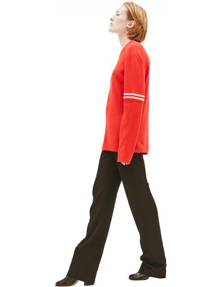 Maison Margiela wool striped sweater - Red