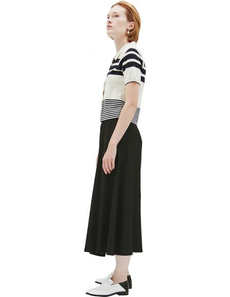 Maison Margiela Striped knit polo - Beige