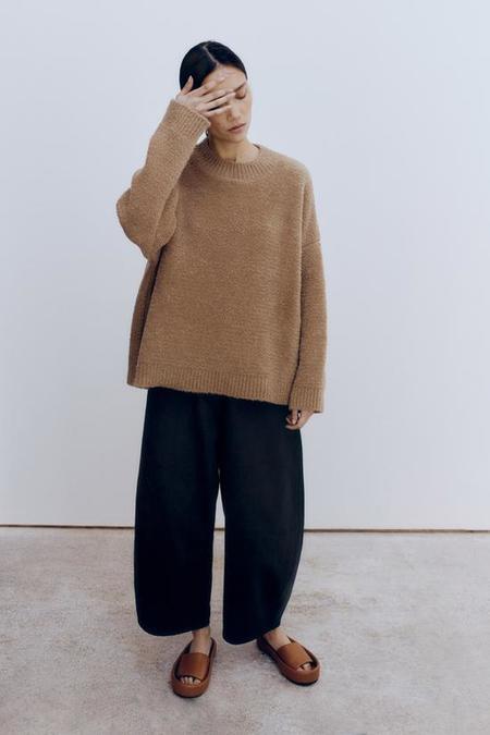 Monica Cordera Shearling Sweater - Camel