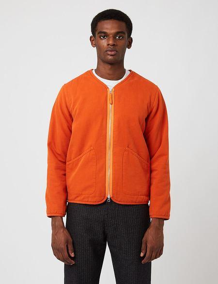 Universal Works Canvas Sherpa Military Liner Jacket - Orange