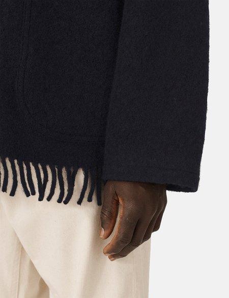 YMC Labour Fringe Wool Chore Jacket - Navy Blue