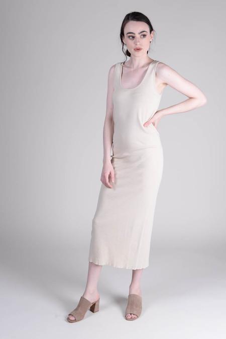 Lauren Manoogian Cashmere Rib Dress Almond