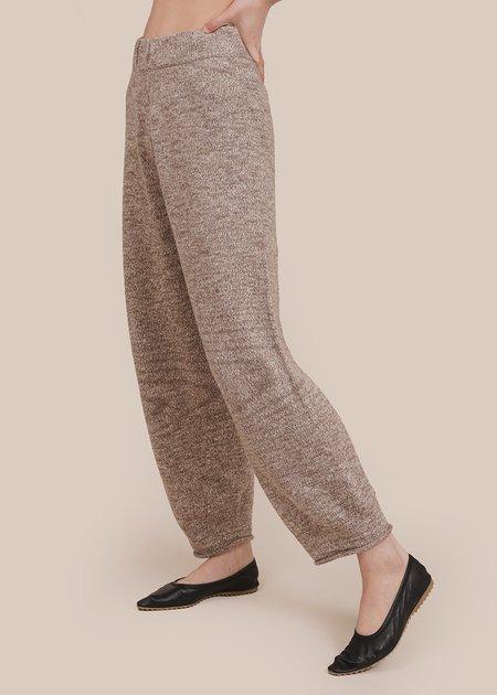 Lauren Manoogian Slub Roll Pants - Walnut