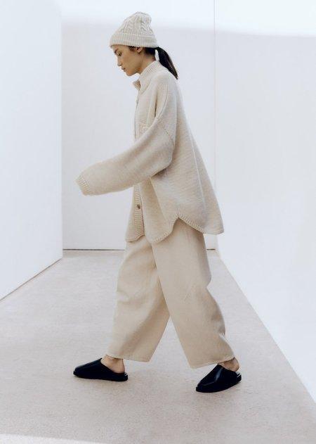 Monica Cordera  Curved Leg Pants -  Natural