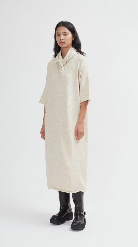 Lauren Manoogian Bateau Dress - Ecru Slub