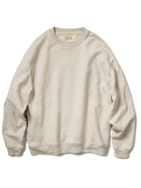 Kapital TOP Fleece x American Quilt 2TONE BIG Sweatshirt - Kinari