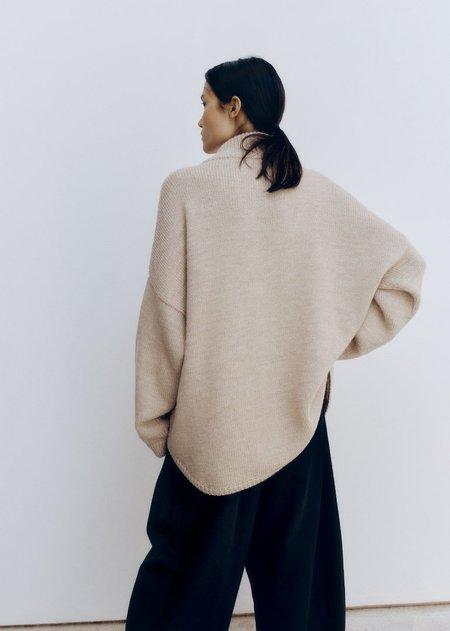 Monica Cordera  Eco Wool Polo Jacket - Nude