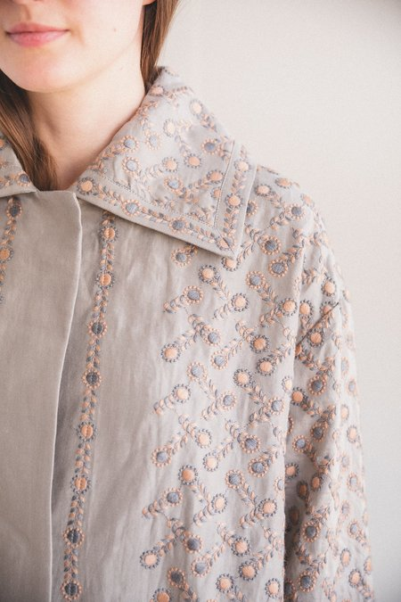 Antipast EMBROIDERY FABRIC COAT - Gray