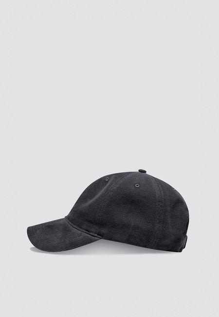 Wood Wood Low Profile Corduroy Cap - black