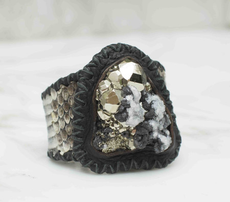 Phoenix Two Moons Pyrite with Calcite