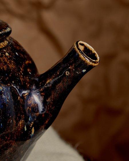 Vintage Ceramic Tea Pot - black