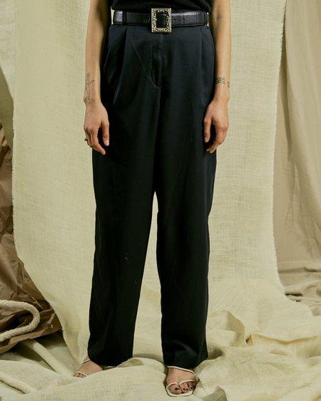 Vintage Classic Pleat Pant - black