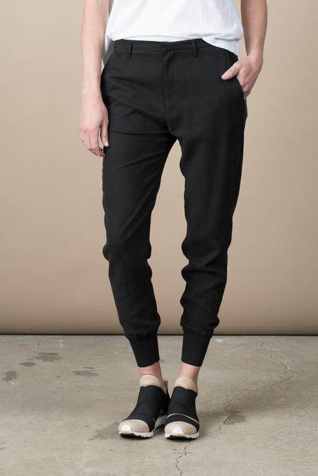Hope Krissy Cuff Trouser In Faded Black