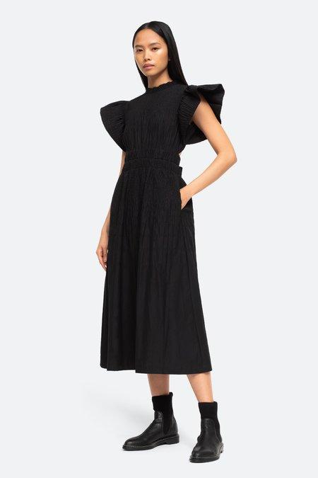 Sea NY Cindy Flutter Sleeve Dress