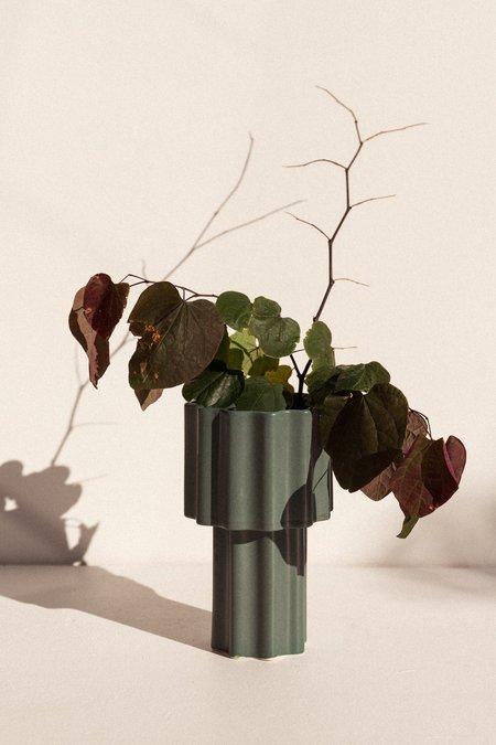 Ella Reweti Tall Tapered Vase - Bubblegum