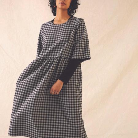 Eve Gravel Aretha Dress - Black/Steel