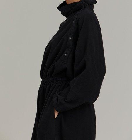 Black Crane Tube Jumpsuits - Black