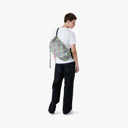 COMME des GARÇONS SHIRT x KAWS Drawstring Bag - Green/Multi