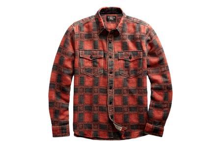 RRL Plaid Jacquard Workshirt - Red/Black
