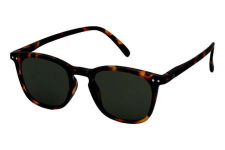 Izipizi E Tortoise Green Lenses Sunglasses - Black