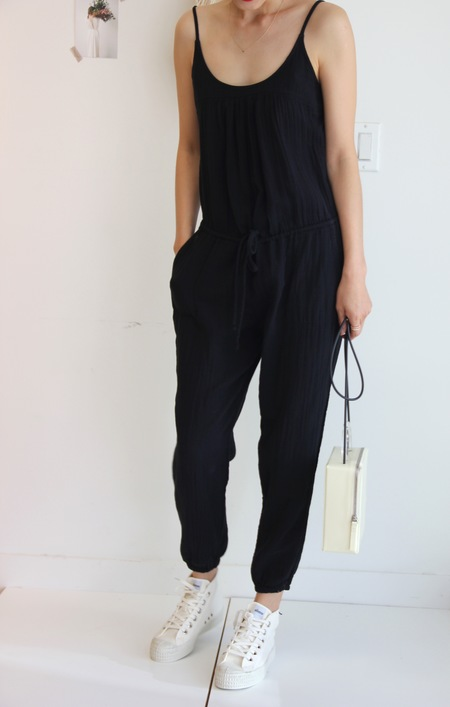 XIRENA JAMES JUMPSUIT BLACK
