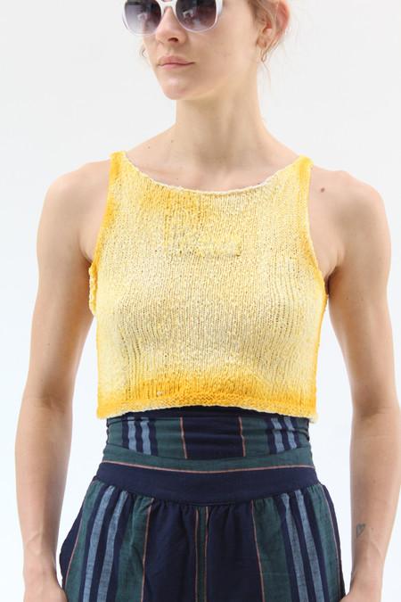 Anntian Handknit Top Dye Yellow