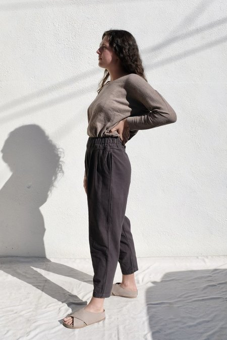 Black Crane Carpenter Pant - Dark Grey