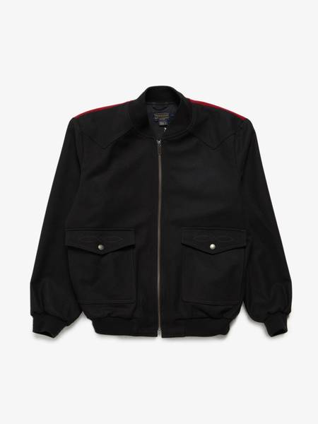 pre-loved Pendleton Male Navajo Wool Coat - BLACK/red