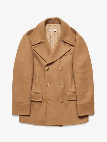 PRE-LOVED Bally Male Beige Double Breasted Wool Coat - Beige