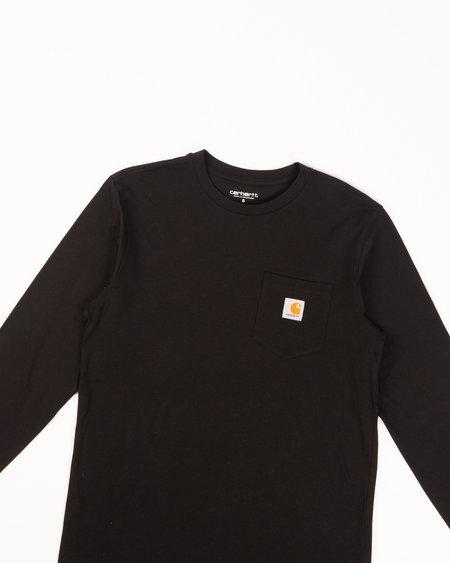 CARHARTT WIP L/S Pocket Tee - Black
