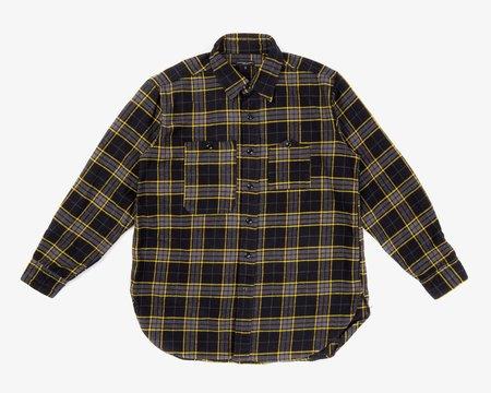 Engineered Garments Work Shirt - Black/Yellow Cotton Twill