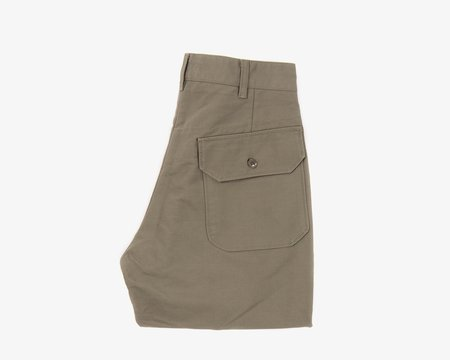 Engineered Garments Carlyle Pants - Olive Cotton Double Cloth