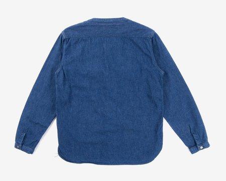 Orslow Used Denim No Collar Shirt